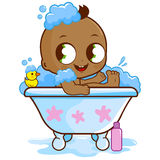 Baby boy taking a bath Royalty Free Stock Photo