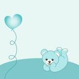 Baby boy teddy bear background Royalty Free Stock Photography