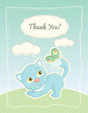 Baby boy Thank you standard postcard Stock Images