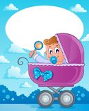 Baby boy theme image 2 Royalty Free Stock Images