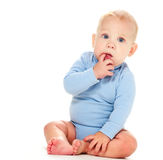 Baby boy thinking Royalty Free Stock Photography