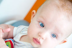 Baby boy is thinking of something nice Royalty Free Stock Photo