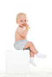 Baby boy with toothbrush. Stock Photography