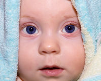 Baby boy in towel Royalty Free Stock Image