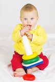 Baby boy with toy Royalty Free Stock Photo