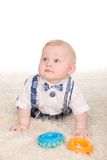 Baby boy with a toy Royalty Free Stock Images