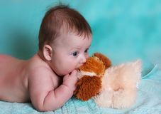 Baby boy with the toy Stock Photo