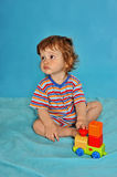 Baby boy with toy royalty free stock images
