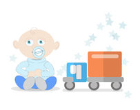 Baby boy with toy. Royalty Free Stock Image