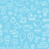 Baby boy toys pattern. Stock Photo