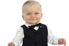Baby Boy in Tuxedo Stock Images