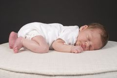 Baby Boy Two. Sleeping Little Baby Boy Two royalty free stock image