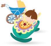 Baby boy. Vector illustration of the Baby boy stock illustration