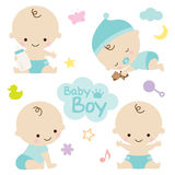 Baby Boy. Vector illustration of baby boy with cute graphic elements. Perfect for baby shower Stock Photo