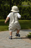 Baby Boy Walking Stock Image