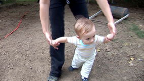 Baby Boy Walking - Steady-Cam V. Baby Boy Learning To Walk (Steady-Cam Used stock video footage