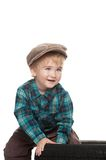 Baby boy wearing cap Stock Images