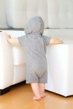 Baby boy wearing hoodie Royalty Free Stock Image