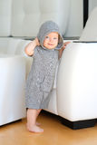 Baby boy wearing hoodie Royalty Free Stock Photography