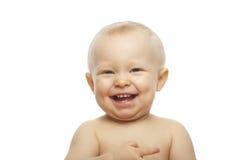 Baby boy on white background Royalty Free Stock Photo