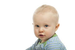 Baby boy on white background Royalty Free Stock Photography