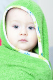 Baby boy after bath Royalty Free Stock Image