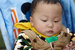 Baby boy  in winter Royalty Free Stock Photo