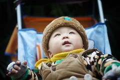 Baby boy  in winter Royalty Free Stock Images