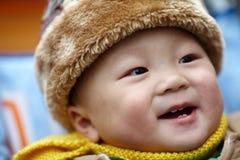 Baby boy  in winter Royalty Free Stock Photos