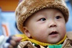 Baby boy  in winter Stock Photo
