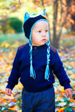 Baby boy in the woods Royalty Free Stock Image