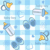 Baby boy wrapping and background. icon seamless t Royalty Free Stock Photos