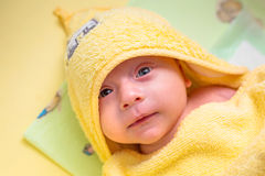 Baby boyl after bath Royalty Free Stock Photography