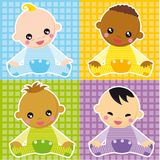 Baby boys stock illustration