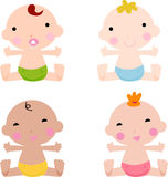 Baby boys and baby girl Stock Images