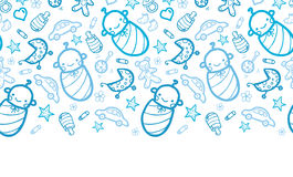 Baby boys horizontal seamless pattern background Stock Image