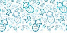 Baby boys horizontal seamless pattern background Stock Image