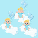 Baby boys triplets Royalty Free Stock Photo