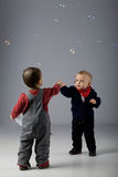 Baby boys - young friends Stock Photography