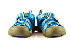 Baby boyshoes  on white background shoes accesories Royalty Free Stock Image