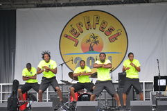 The Baby Boyz. Performing group Baby Boyz do there dancing at the annual Jerk Fest in Etobicoke Canada Saturday 30th, Aug. 2011 Royalty Free Stock Images