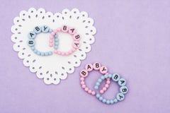 Baby Bracelets royalty free stock photo