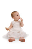 Baby with bread Royalty Free Stock Photography