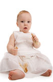 Baby with bread Royalty Free Stock Images