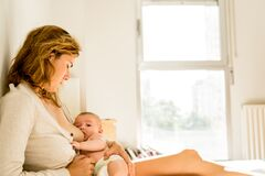 Free Baby Breastfed For Breast Milk, Alternative Maternity Concept Royalty Free Stock Photography - 169107207