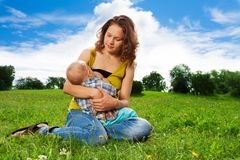 Baby breastfeeding Royalty Free Stock Photos