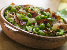Baby Broad Beans And Ham- Jamon Au Favas Royalty Free Stock Photography