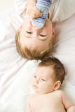 Baby brothers  Royalty Free Stock Photo