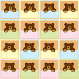 Baby Brown Bear Seamless Pattern Stock Images