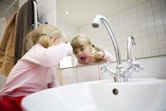 Baby Brushing teeth Royalty Free Stock Image